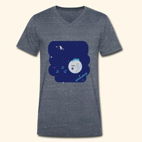 Enceladus punk rock moon of Saturn - Ekologisk T-shirt med V-ringning herr från Stanley & Stella