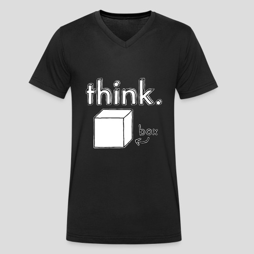 Think Outside The Box Illustration - Men's Organic V-Neck T-Shirt by Stanley & Stella