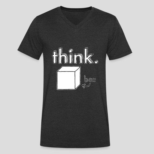 Think Outside The Box Illustration - Men's Organic V-Neck T-Shirt by Stanley & Stella