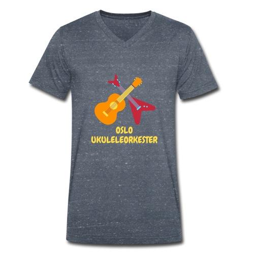 Oslo Ukuleleorkester sin t-shorte - Økologisk T-skjorte med V-hals for menn fra Stanley & Stella
