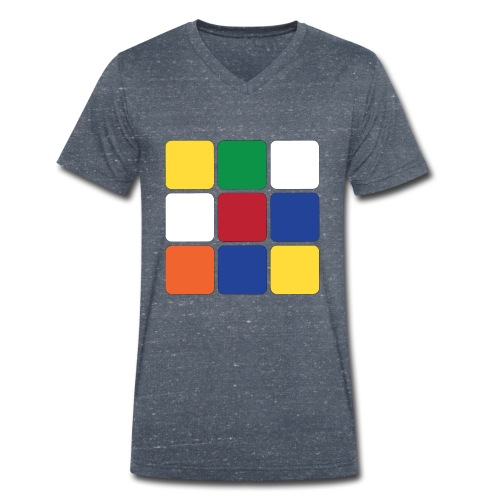 Square - Men's Organic V-Neck T-Shirt by Stanley & Stella