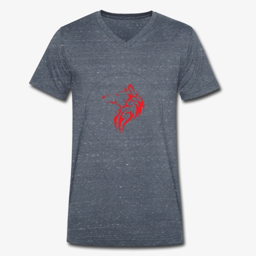 The NoCopyright BassBooster Logo No black - Mannen bio T-shirt met V-hals van Stanley & Stella