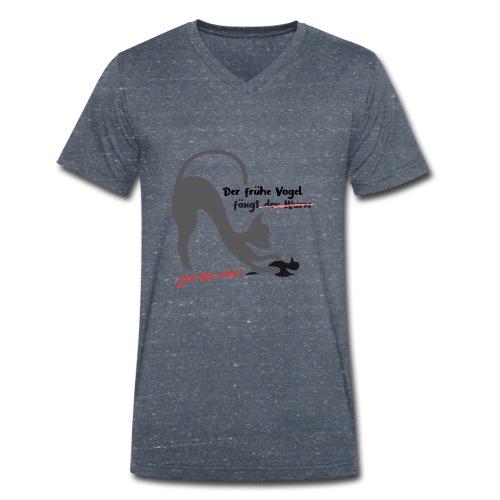 Der frühe Vogel - Männer Bio-T-Shirt mit V-Ausschnitt von Stanley & Stella