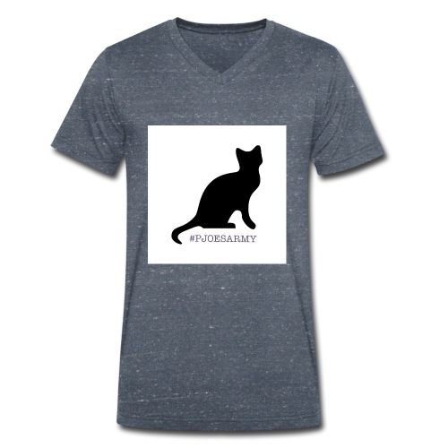 #pjoesarmy met poes - Mannen bio T-shirt met V-hals van Stanley & Stella