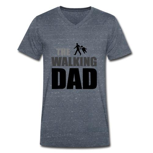 the walking dad auf dem Weg in die lustige Bar - Männer Bio-T-Shirt mit V-Ausschnitt von Stanley & Stella