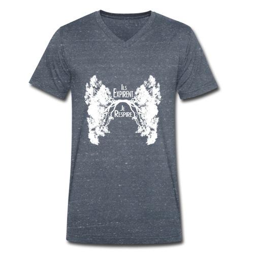 Oxygène blanc - T-shirt bio col V Stanley & Stella Homme