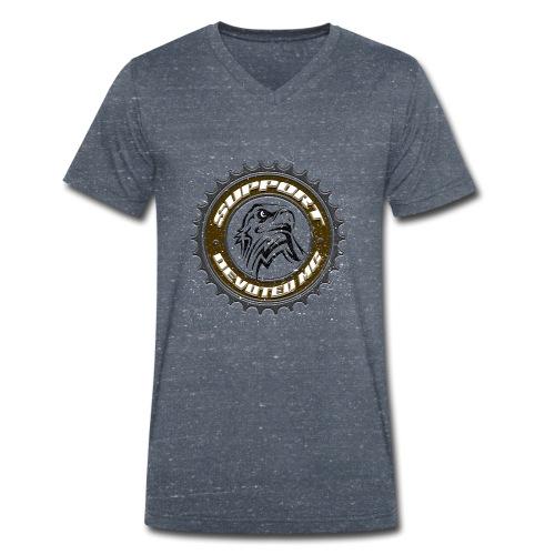 Sprocket Support - Økologisk T-skjorte med V-hals for menn fra Stanley & Stella
