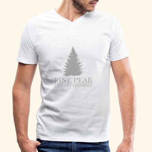 Pine Peak Entertainment Grey - Mannen bio T-shirt met V-hals van Stanley & Stella