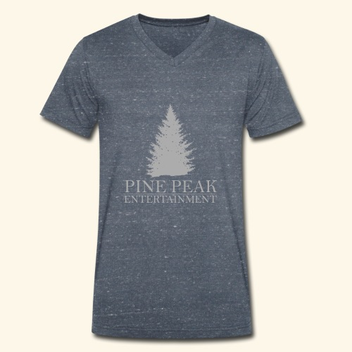 Pine Peak Entertainment Grey - Mannen bio T-shirt met V-hals van Stanley & Stella