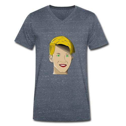 Adlorf - Ekologiczna koszulka męska z dekoltem w serek Stanley & Stella