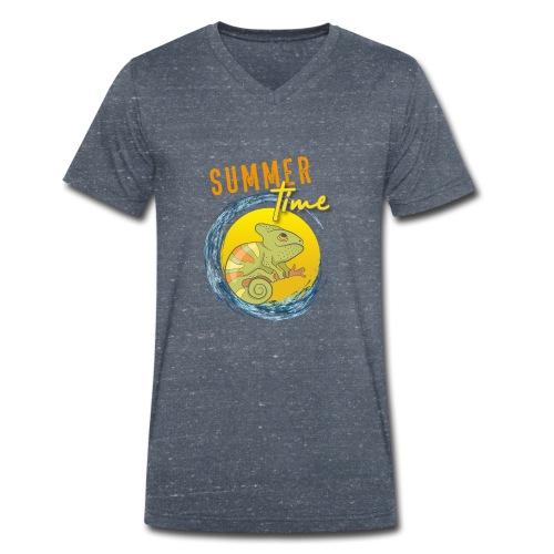 Chamäleon - Männer Bio-T-Shirt mit V-Ausschnitt von Stanley & Stella