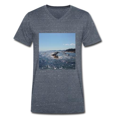Mer avec roches - T-shirt bio col V Stanley & Stella Homme