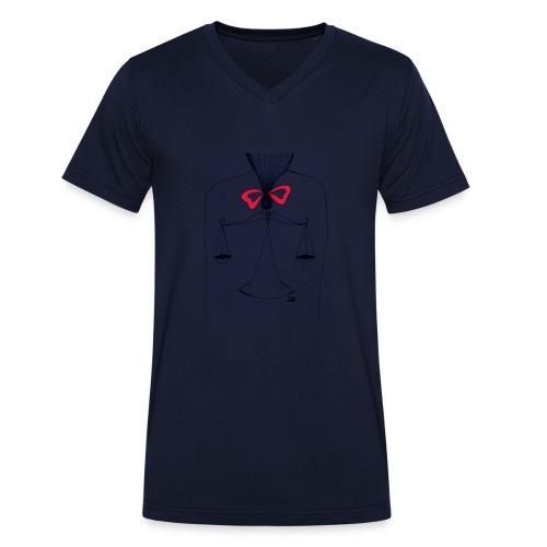Libra Horoscope - Ekologisk T-shirt med V-ringning herr från Stanley & Stella