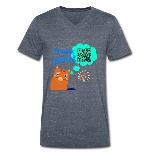 Duna Checkpoint - Økologisk T-skjorte med V-hals for menn fra Stanley & Stella