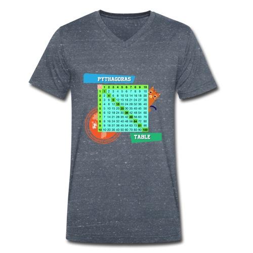 Pythagoras table - Økologisk T-skjorte med V-hals for menn fra Stanley & Stella