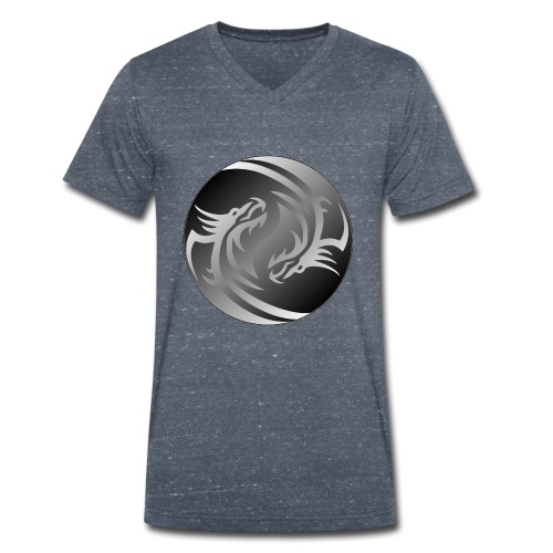 Yin Yang Dragon - Men's Organic V-Neck T-Shirt by Stanley & Stella
