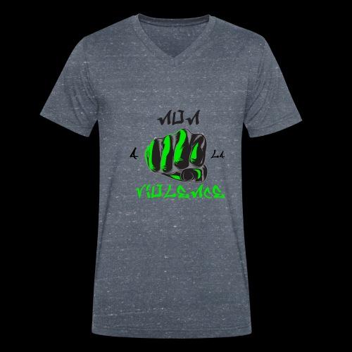 non a la violence - T-shirt bio col V Stanley & Stella Homme
