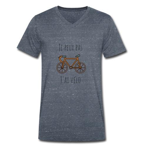 t shirt cyclisme je peux pas j'ai vélo dessin - T-shirt bio col V Stanley & Stella Homme