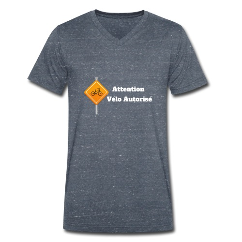 Attention, vélo autorisé 2 - T-shirt bio col V Stanley & Stella Homme