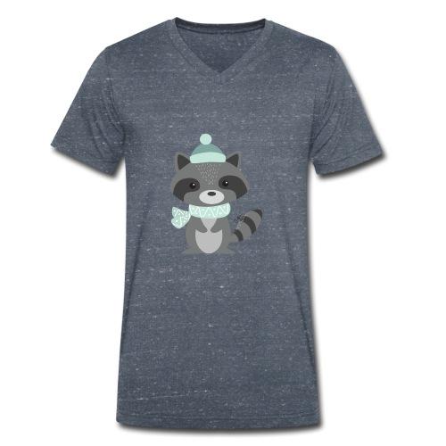 The Raccoon - T-shirt ecologica da uomo con scollo a V di Stanley & Stella