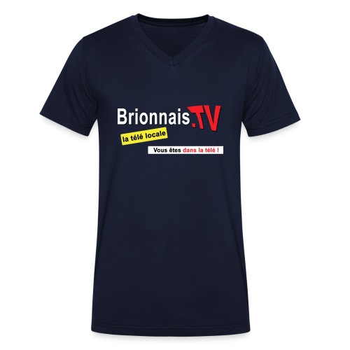 BTV logo shirt dos - T-shirt bio col V Stanley & Stella Homme