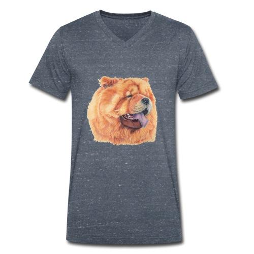 chow chow - Økologisk Stanley & Stella T-shirt med V-udskæring til herrer