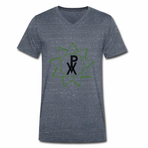 P.V.A. STELLA A 9 PUNTE VERDE MILITARE - T-shirt ecologica da uomo con scollo a V di Stanley & Stella