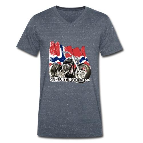 SUPPORT STREETWARE FLAG1 - Økologisk T-skjorte med V-hals for menn fra Stanley & Stella