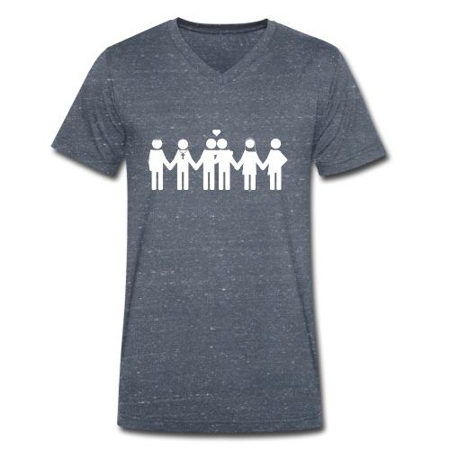Diversity and love - Mannen bio T-shirt met V-hals van Stanley & Stella