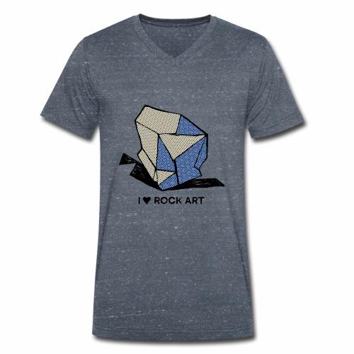 I LOVE ROCK ART No 1 colour - Mannen bio T-shirt met V-hals van Stanley & Stella