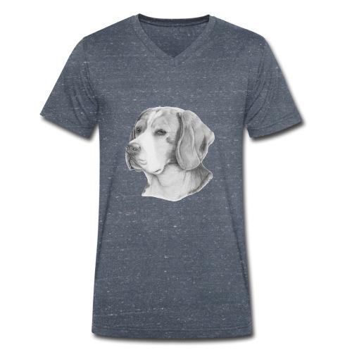 beagle M - Økologisk Stanley & Stella T-shirt med V-udskæring til herrer