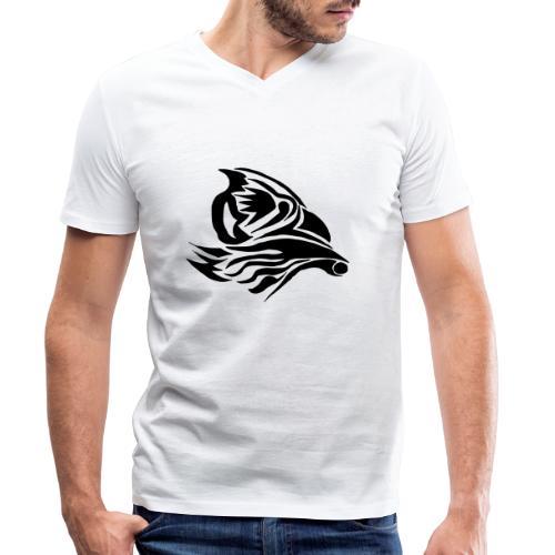 Aigle Abstrait - T-shirt bio col V Stanley & Stella Homme