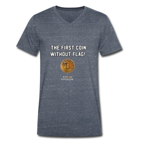 Coin with no flag - T-shirt ecologica da uomo con scollo a V di Stanley & Stella