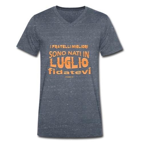 fratellimigliori luglio 1 hires - T-shirt ecologica da uomo con scollo a V di Stanley & Stella