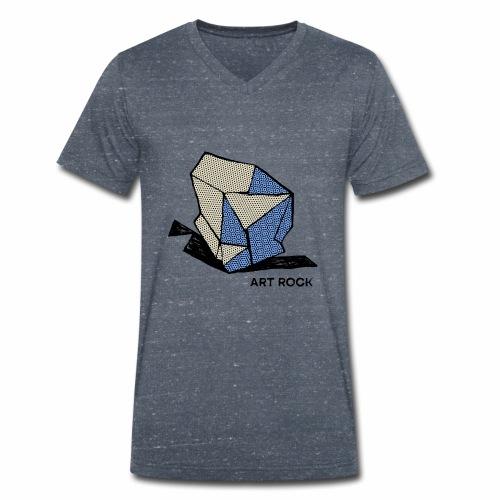 ART ROCK No 1 colour - Mannen bio T-shirt met V-hals van Stanley & Stella