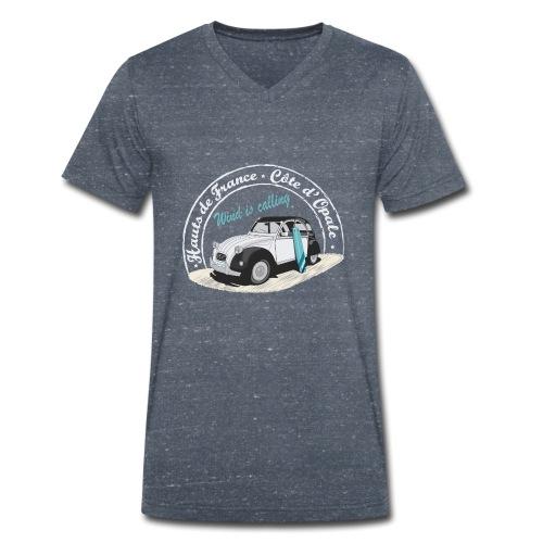 2CV - Wind is calling II ( Le vent m'appelle!) - T-shirt bio col V Stanley & Stella Homme