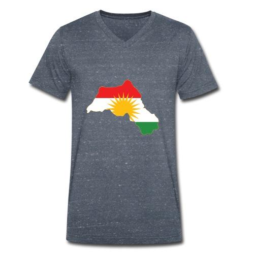 Kurdistan Flag Map - Männer Bio-T-Shirt mit V-Ausschnitt von Stanley & Stella