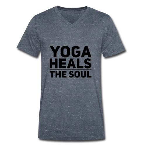 yoga - Mannen bio T-shirt met V-hals van Stanley & Stella