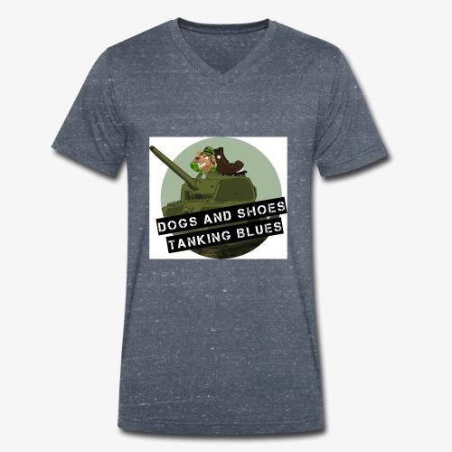 logo dogs nieuw - Mannen bio T-shirt met V-hals van Stanley & Stella