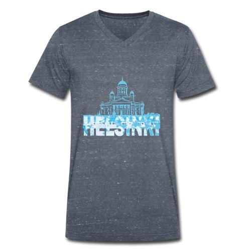 Helsinki Cathedral - Men's Organic V-Neck T-Shirt by Stanley & Stella