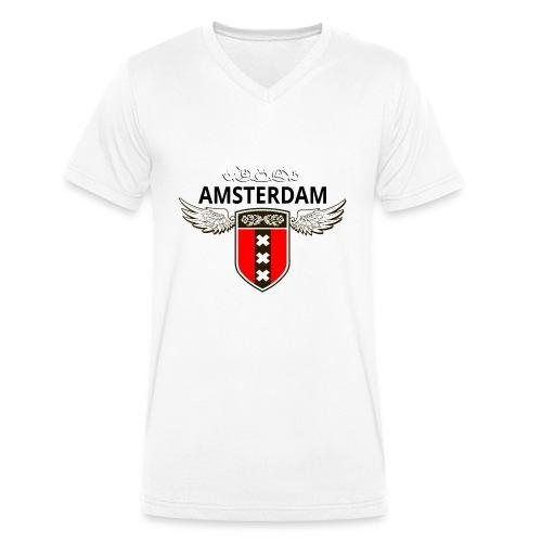 Amsterdam Netherlands - Männer Bio-T-Shirt mit V-Ausschnitt von Stanley & Stella