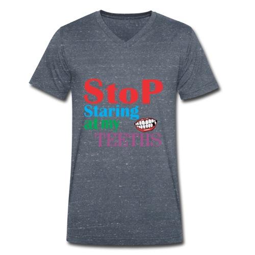 MY TEETHS - Men's Organic V-Neck T-Shirt by Stanley & Stella