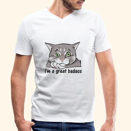 Nice Dogs CATS - T-shirt ecologica da uomo con scollo a V di Stanley & Stella