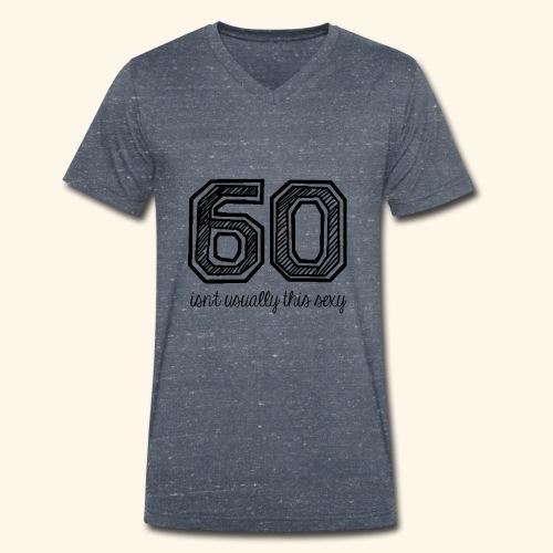 60 and sexy - Mannen bio T-shirt met V-hals van Stanley & Stella