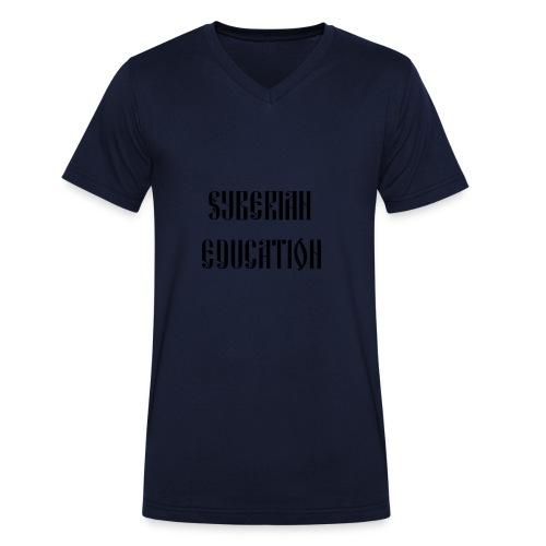 Russia Russland Syberian Education - Men's Organic V-Neck T-Shirt by Stanley & Stella