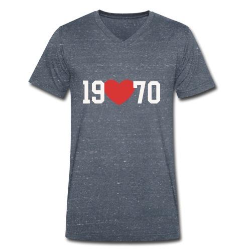 19 heart 70 - Männer Bio-T-Shirt mit V-Ausschnitt von Stanley & Stella