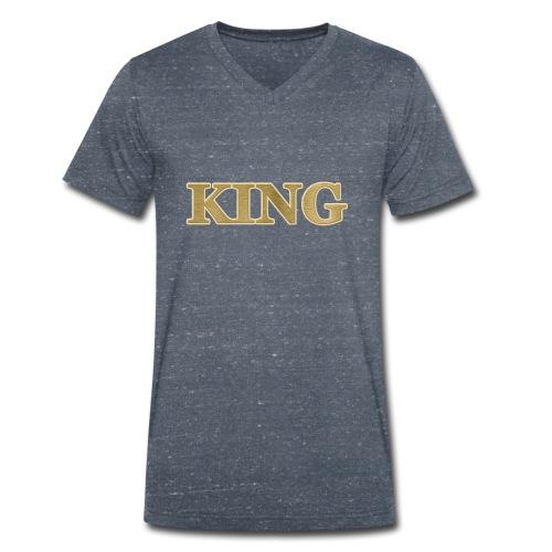 The KING - Männer Bio-T-Shirt mit V-Ausschnitt von Stanley & Stella
