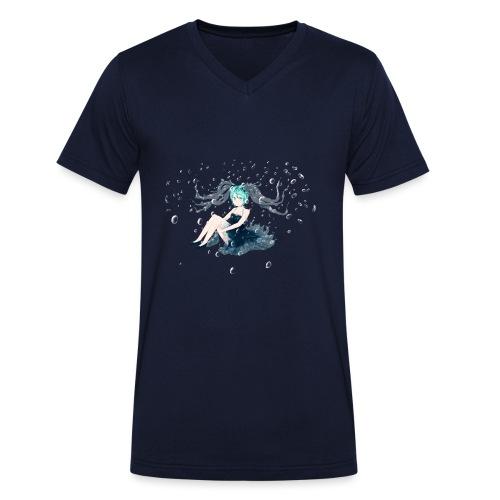 Water Miku O.C. - T-shirt ecologica da uomo con scollo a V di Stanley & Stella