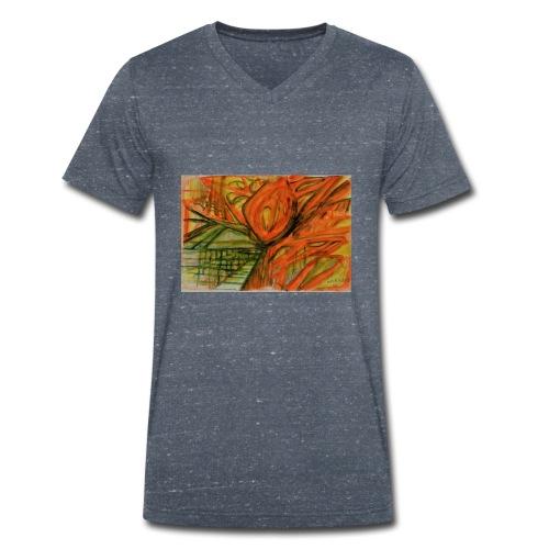 20 03 2018 Frühlingsanfang - Männer Bio-T-Shirt mit V-Ausschnitt von Stanley & Stella