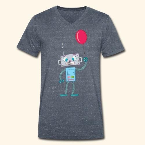 Cute Robot Kids Tees - Men's Organic V-Neck T-Shirt by Stanley & Stella
